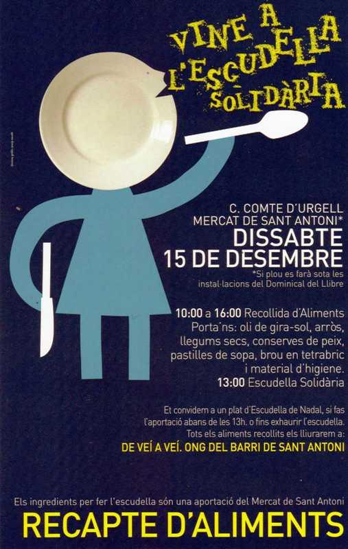 Vine a l'Escudella Solidària. Dissabte 15 desembre